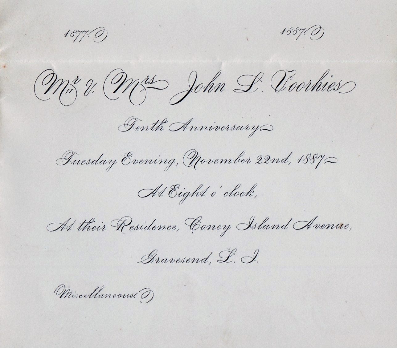 February 2015 the gravesend gazette invitation to the tenth wedding anniversary celebration of john l and frances e stopboris Image collections