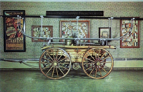 Museum.Firefighting.Postcard.pumper
