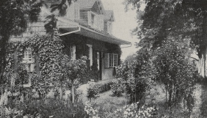1912 photograph showing landscaped grounds and Platt renovations.