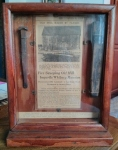 A shadowbox holding two relics of Gerritsen's Mill. {Collection of Joseph Ditta}
