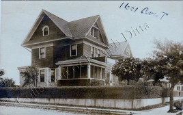 Real photo postcard view of 1601 Avenue T, mailed on October 31, 1916. (Collection of Joseph Ditta)