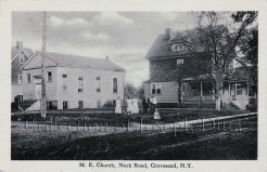 Postcard view of the Gravesend Methodist Epsicopal Church, southeast corner of Neck Road and Van Sicklen Street, circa 1910. {Collection of Joseph Ditta}