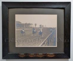 "Coney Island Jockey Club, Sheepshead Bay, Saturday, September 8, 1906, second race, won by ""John M. P.,"" followed by ""Agent,"" ""Alfar,"" and ""Haylas."" {Collection of Joseph Ditta}"