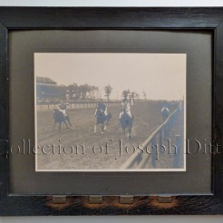 "Coney Island Jockey Club, Sheepshead Bay, Saturday, September 8, 1906, second race, won by ""John M. P.,"" followed by ""Agent,"" ""Alfar,"" and ""Haylas."" {Collection of Joseph Ditta}"